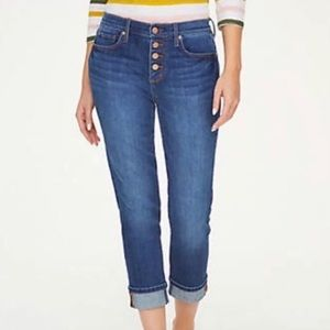 LOFT Outlet Denim Jeans Original Straight Crop